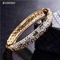2017 de La Moda de Alta Calidad Amor Brazalete para Mujeres Pulsera de Oro Blanco CZ anillo de Compromiso Circón Joyería Z026
