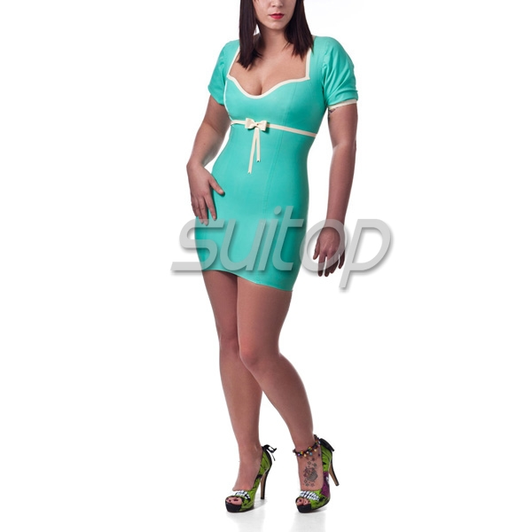 latex Nurse Uniform hot sell latex dress including hat gloves