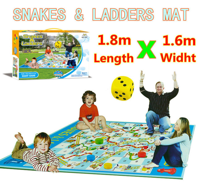 Family Outdoor Board Toy Snakes Ladders Baby Crawl Play Mat Picnic Rug Carpet