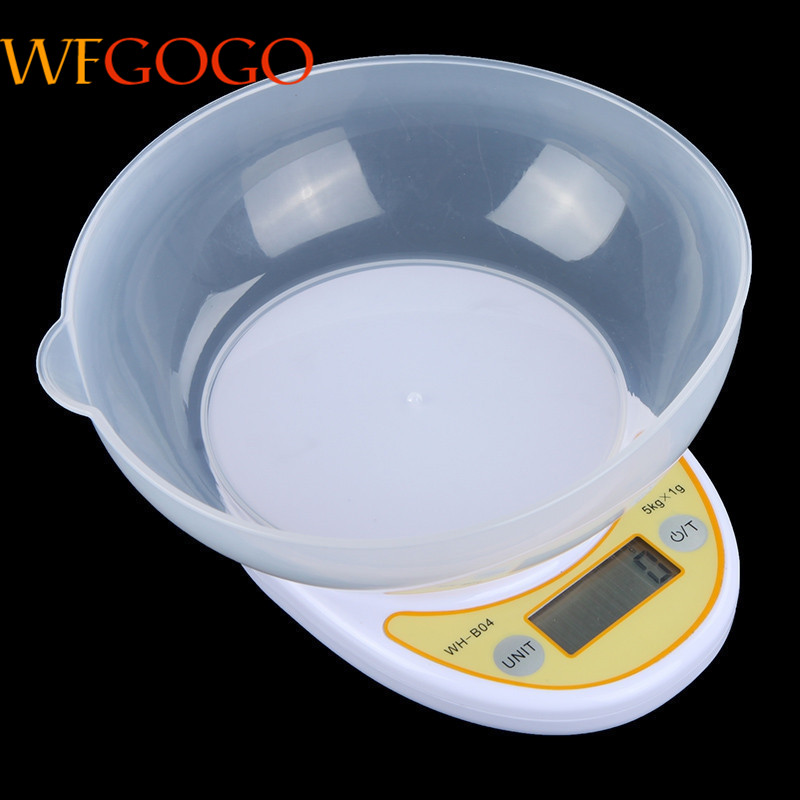 5KG 1g LCD Display font b Electronic b font Kitchen Scale Portable Digital Scale Kitchen Food