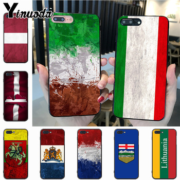 Yinuoda Italy Lithuania Latvia On Sale! Luxury Cool phone Case for iPhone 7plus 6S 7 8 8Plus X 5S 11pro case cover image
