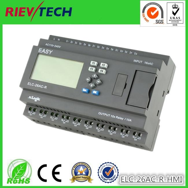 Latest And Innovative Programmable Logic Controller,micro Plc ELC-26AC-R-HMI