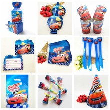Cars Lightning McQueen Kids Birthday Party Decoration Set Cars-Plex Supplies Baby Pack Event