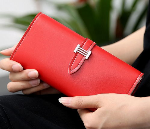 2016 New Carteira Real Women's Wallet Purse with Large Capacity and Multi-Card Holder Long Section Solid Colors 5