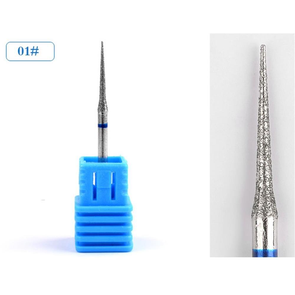 1 ST DIY Nail Art File Cuticle Schoon Draaien Burr Carbide Nail ...