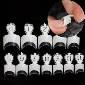 24pcs/kit 12 size White French Nail Tips Beautiful Easy Ladies Clear French Nails DIY Tip Manicure Accessories Маникюр