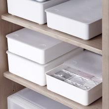 Storage box bra underwear socks sorting wardrobe drawer with plastic storage lid