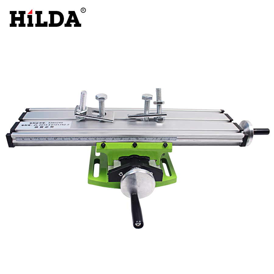 HILDA Miniature Precision Multifunction Milling Machine Bench Drill Vise Fixture Worktable X Y-axis Adjustment Coordinate Table