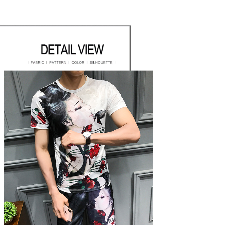 Loldeal Summer 3D Beauty Women's Print Set Ice Silk Short Sleeve T Shirt + Shorts Set Men's Print Butterfly Men's Set-in Men's Sets from Men's Clothing on Aliexpress.com   Alibaba Group 14