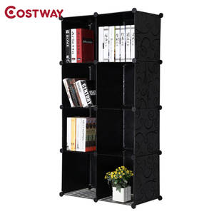 COSTWAY Bookshelves Bedroom Storage Shelves Bookcase
