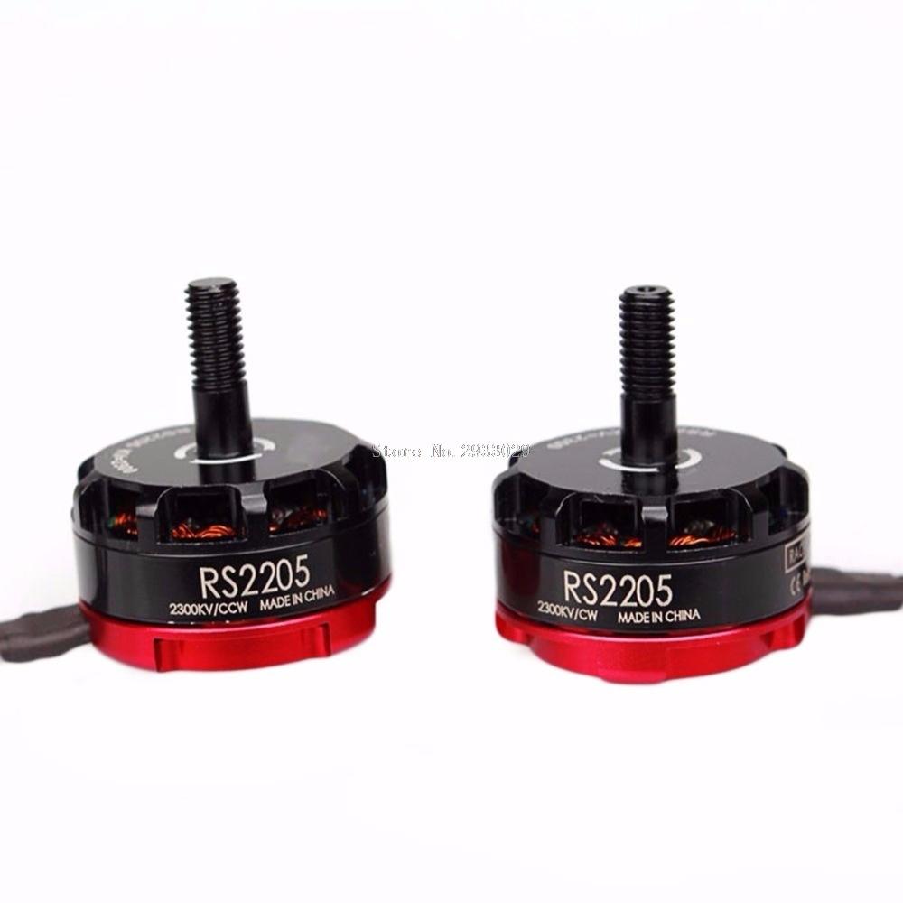 2Pcs RS2205 2300KV Racing Edition CW CCW Motor 2205 for FPV QVA250 Quadcopter EMAX -B116 2pcs kv b16ra