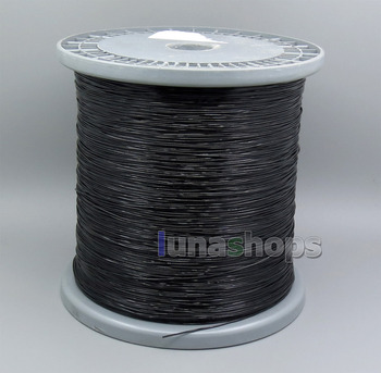 LN005617 200m 7 Wires Earphone Silver Plated Foil PU   Black Skin Insulating Layer Bulk Cable For DIY Custom