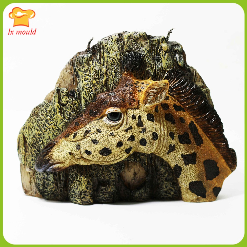 2016 nouvelle girafe artisanat bougie silicone moule en trois dimensions creative mignon girafe gâteau moule