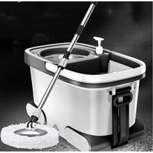 150216/Высокое качество швабры из нержавеющей стали/двойной привод Швабра для домашнего хозяйства ведро/автоматически вращается швабра/супер жесткий материал