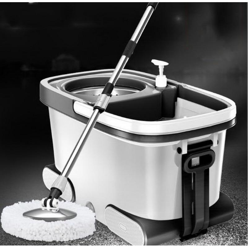 150216/Высокое качество нержавеющая сталь швабры/двойной привод Швабра для домашнего хозяйства ведро/автоматически вращать швабра/супер жест...