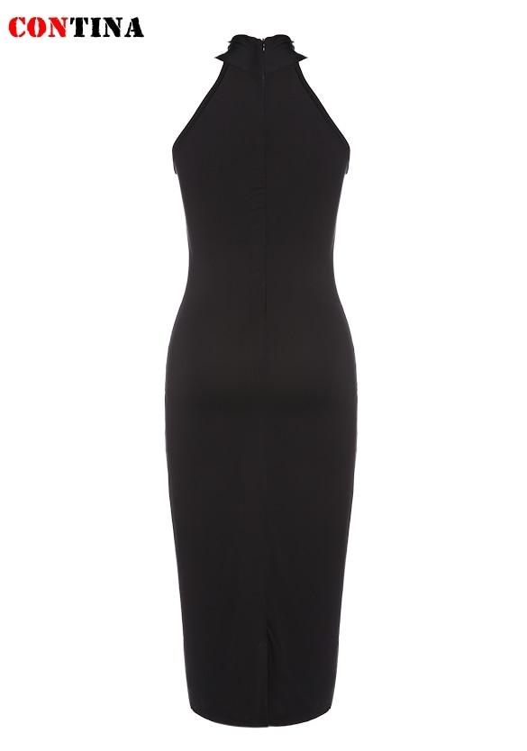 825cc56dda4 Vestidos Women Turtleneck Dress Sleeveless Black Pencil Party Dress Slim  Knee Length Star Style Plus Size Bandage Dresses Robe-in Dresses from  Women s ...