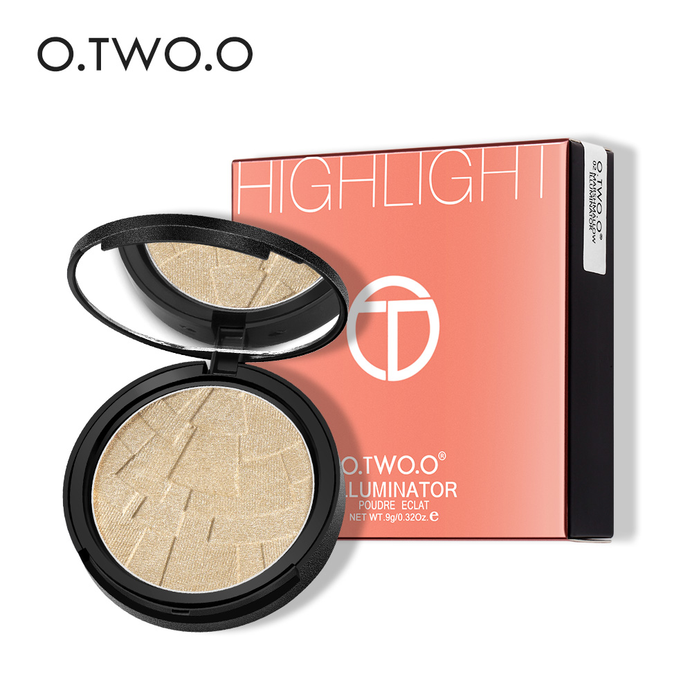 O.TWO.O Professional Makeup Face Contour Set 4 Color Powder Highlighter Palette Highlight Golden Bronzer Highlighter Powder все цены