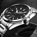 NAVIFORCE Stainless Steel Watch Men Quartz Business Wristwatch with Date Week Function Man Watch Luxury Brand Sport Watches