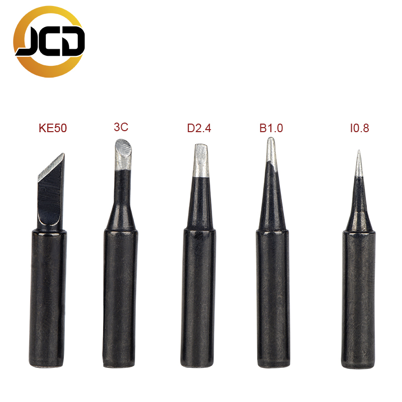 Jcd Soldering Iron Tips Black Pure Copper Soldering Tip 5pcs/set 900M-T Lead-free Welding Solder Rework Tools Accessories