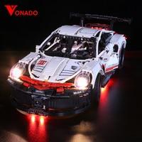 Led light for Lepin 20097 Technic Series 42096 White Super Racing Car Set Building Blocks Bricks Car Model Kids Toys(only light)