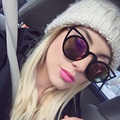 AFOFOO Fashion Women Cat Eye Sunglasses Luxury Brand Designer Female Metal Frame Coating Mirror Sun glasses Shades UV400