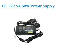 DC 12V 5A 60W LED Power Supply Charger AC Converter Adapter Transformer For LCD Monitor Or