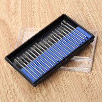 20Pc 2 34x2 34mmGrinding Tungsten Steel Rotary File Diamond Burr Set Engraving Polishing Carving Cutter Head