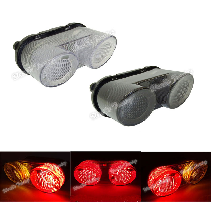 waase EMARK Rear Taillight Tail Brake Turn Signals Integrated Led Light For YAMAHA YZF R1 2000 2001 FZ1 FZ-1 2001 2002 20032005 for geely mk1 mk2 rear taillight brake lights turn signals light
