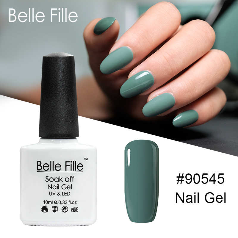 905ecc2d17 Detail Feedback Questions about BELLE FILLE Green Gel Nail Polish UV ...