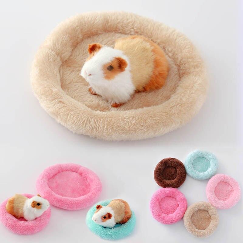 Intelligent S/l Huisdier Fluwelen Slaap Mat Kleine Huisdier Nest 1 St Warm Katoen Bed Huisdier Katoen Pads Dier Benodigdheden Ronde Vorm Hamster Nest Pad