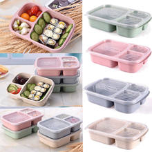 Limit 100 Hot Wheat Microwave Bento Lunch Box Picnic SuShi Fruit Food Container Storage Boxes Case Container Organizer(China)