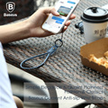 100% Original Baseus UP Leather Wrist Hand Cell Phone Mobile Chain Straps Keychain Charm Cords Hand Rope Phone Straps