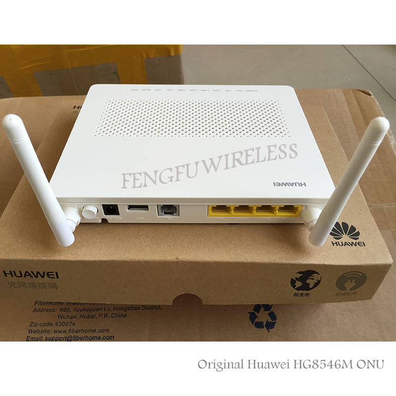 Wholesale 10pcs/lot Hua Wei Hg8546m Mini Size 1ge+3fe+1tel+usb+wifi Gpon Onu Ont Hgu Router Mode Quality With English Fireware Excellent In