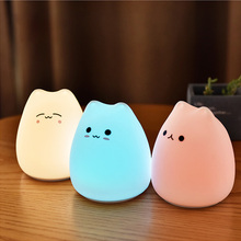 LED Night lamp decorate desk light battery dream cute cat 7 colourful holiday creative rechargable bulb for baby bedroom luminar 2018 creative decoration cute animal cat resin children cartoon desk lamp cartoon cat desk lamps bedroom creative for home