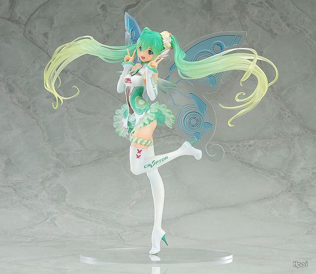 Japanese Anime Hatsune Miku Action Figure Racing Miku Toy Dolls Pvc Butterfly Miku Model Gift no retail box (Chinese Version) 3