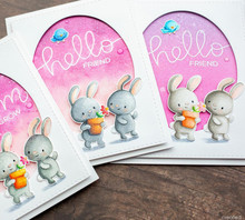 TPP A friendly rabbit Clear Silicone Stamp/Seal for DIY scrapbooking/photo album Decorative clear stamp sheets(China)