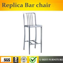 U-BEST промышленные высокие барные стулья со спинкой, промышленный стиль металлический барный стул для кафе ресторана