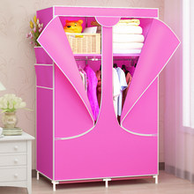 Folding Clothes Storage Simple Non-woven Cloth Wardrobe Cabinet Wardrobe Closet Bedroom Furniture(China)