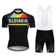 2019 SLOVAKIA PRO TEAM Cycling Jersey Bike Shorts Ropa Ciclismo Mens Summer BICYCLING Wear Maillot Culotte Bike Uniform Clothing crossrider 2018 pro team france cycling jersey men short cycling uniform set ropa ciclismo bicycle wear clothing maillot culotte
