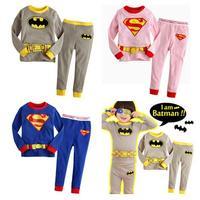 New Kids Superman Costume Suit Spiderman Batman Costume For Kids Boy Super Hero Anime Carnival Cosplay