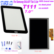 STARDE LCD for Samsung Galaxy Tab 3 Lite T111 SM-T111 3G Version LCD Display Touch Screen Digitizer Sense with Free Tools Adhens lcd display screen touch digitizer for lg g tablet pad 8 3 v500 wifi version or 3g version white or black free shipping