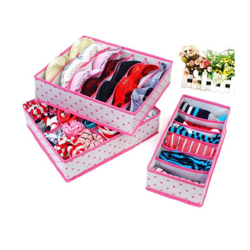 Butihome Home Storage Underwear Bra Organizers Foldable Storage Boxes For Socks Ties Lingerie Drawer Container Organiser