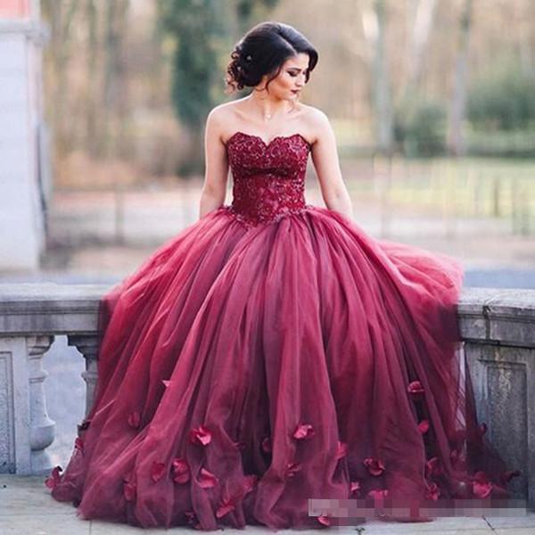 Baratos vestidos quinceanera Doce 16 dresses vestido de 15 años dburgundy quinceanera vestidos robe de bal 2017 debutante vestido