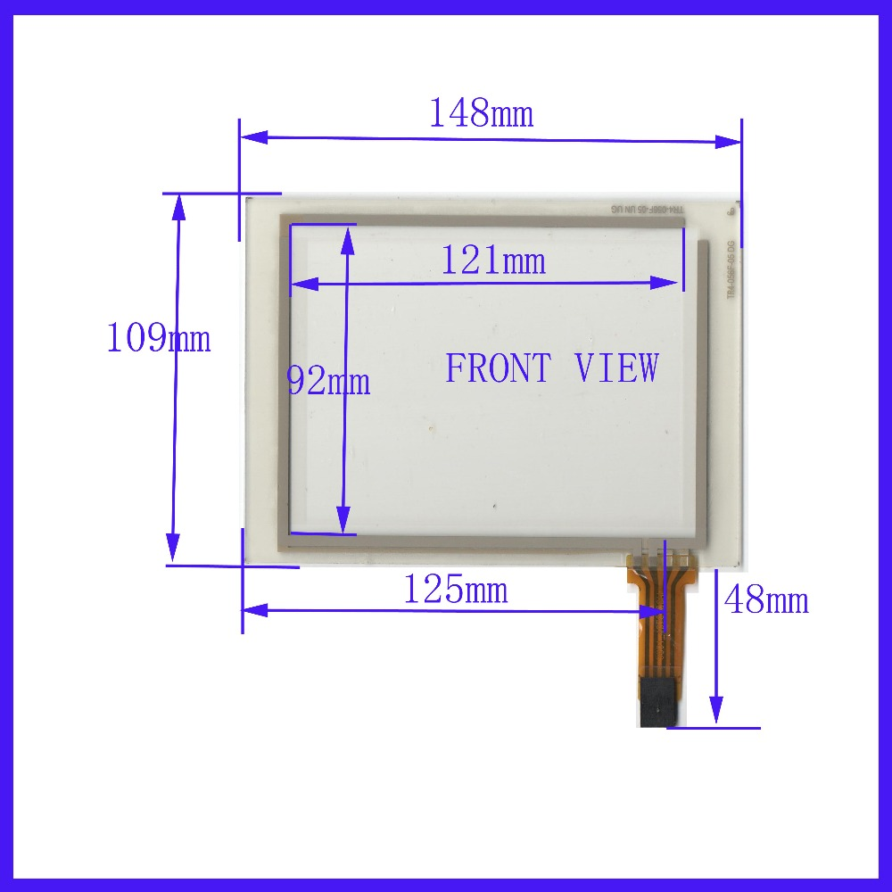 купить ZhiYuSun NEW 148mm*109mm 5.6 Inch Touch Screen panels 4 wire resistive USB touch panel overlay kit Free Shipping TR4-056F-05 онлайн