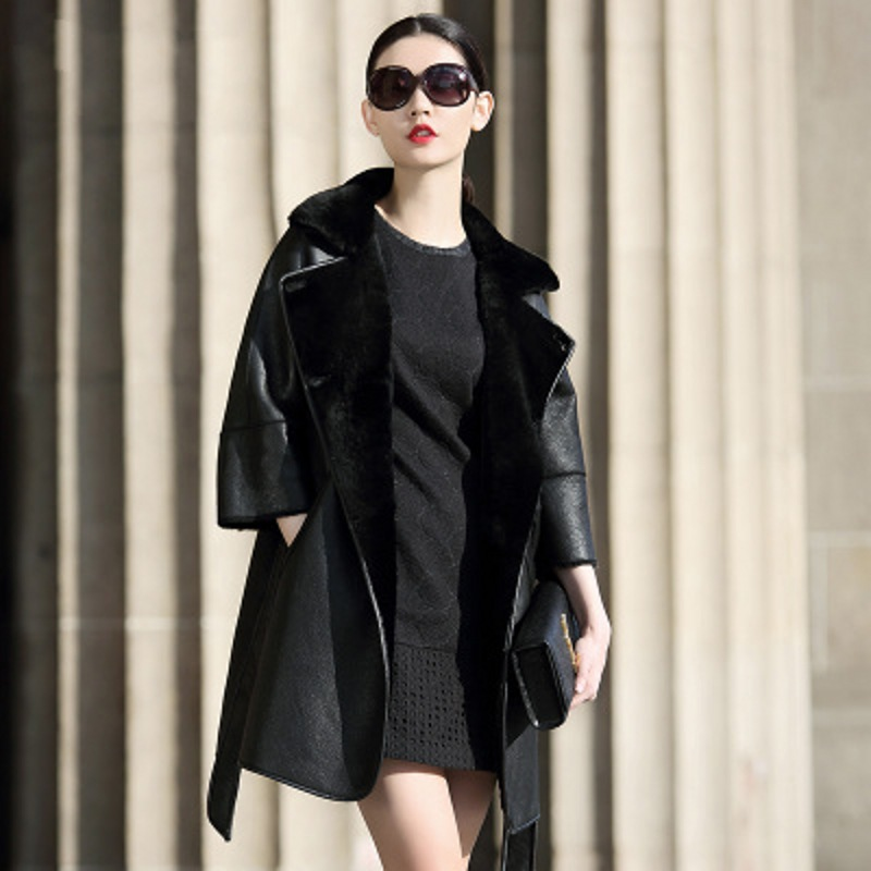 bonito diseño revisa disponible abrigo oveja reversible