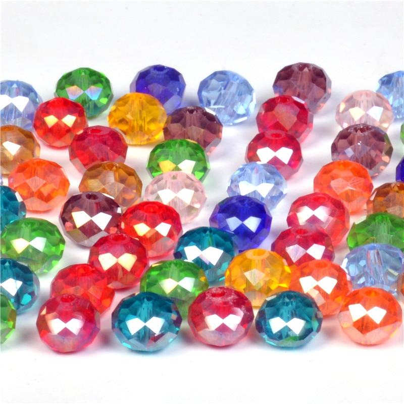 4 6 8 мм Чехия Свободные Хрустальные Круглые шарики для изготовления ювелирных изделий Diy рукоделие AB Цвет Spacer Граненый Стекло бусинами оптовая продажа
