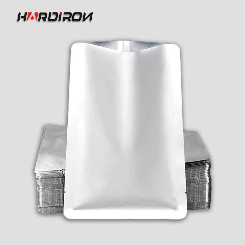 HARD IRON 0.2mm Aluminum Foil Hot Seal Top Open Tea Kitchen Bags Vacuum Coffee Storage Plastic Packaging Powder Food grade