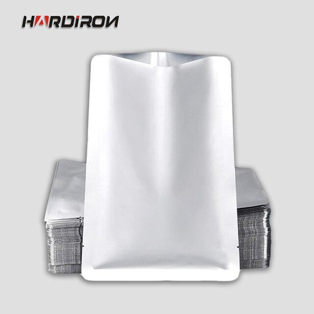 HARD IRON 0.2mm Aluminum Foil Hot Seal Top Open Tea Kitchen Bags Vacuum  Coffee Storage Plastic Packaging Powder Food Grade