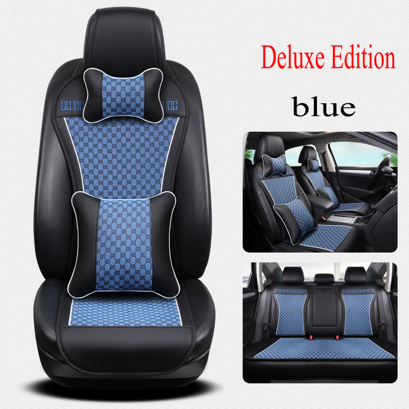 Kalaisike leather Universal car Seat covers for Kia all models ceed rio sportage sorento optima cerato k2 k3 k4 k5 car styling new styling leather car seat cover car cushion complete set for kia k4 k5 kia rio ceed cerato sportage optima maxima four season