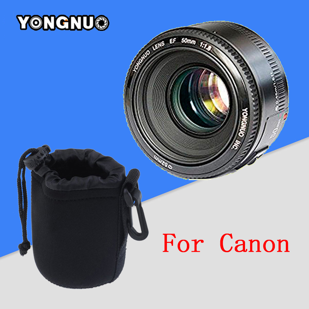 YONGNUO YN50MM Fixed Focus Lens EF 50mm F/1.8 AF/MF Lense yn50mm Large Aperture Auto Focus Lens For Canon OR Nikon DSLR Camera